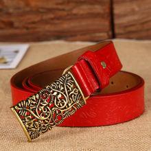 Женский кожаный ремень в стиле ретро peikong пояс из воловьей