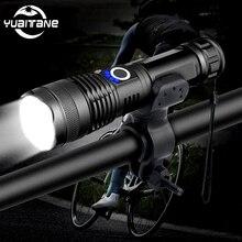 20000LM 가장 강력한 XHP50 LED 자전거 손전등 USB 충전식 USB 줌 자전거 라이트 토치 18650 26650 야외 자전거 라이트