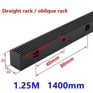 Image 2 - انتقال رمح آلة الحفر رف 1.25 وضع 22 مللي متر x 25 مللي متر طول 1400 مللي متر مستقيم رف/رف المائل