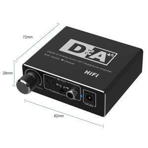 Image 2 - Digital zu Analog Audio Converter Optical Toslink Koaxial zu Analog CINCH L/R 3,5mm Jack Audio Adapter für xbox HD DVD Blu ray PS3