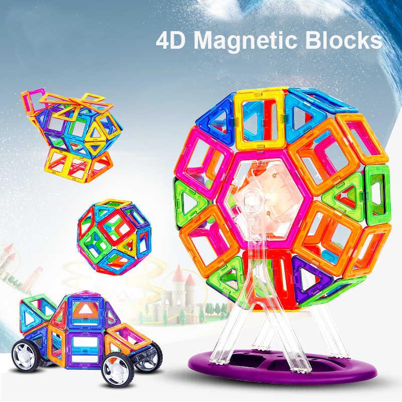 109PCS ขนาดใหญ่แม่เหล็กออกแบบบล็อก 3D ก่อสร้างอาคารบล็อกแม่เหล็กสร้างของเล่นสำหรับของขวัญเด็ก