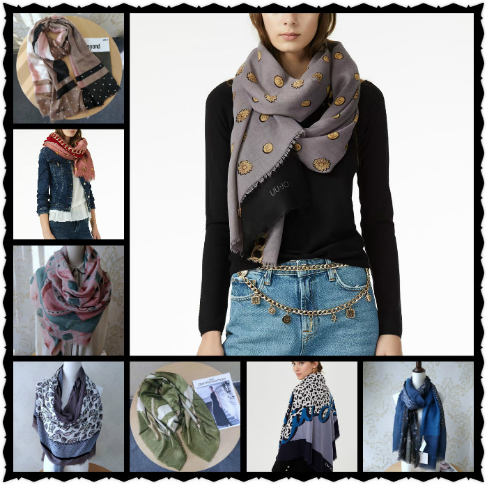 Ladies Italian fashion big square scarf print colorful breathable scarf scarf shade silk scarves hot selling women scarves 11