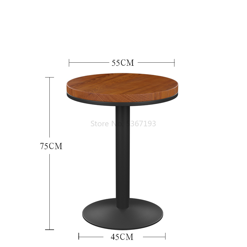 Wrought Iron Solid Wood Bar Chair Concise High Foot Chair Bar Stool Bar Chair Commercial Furniture