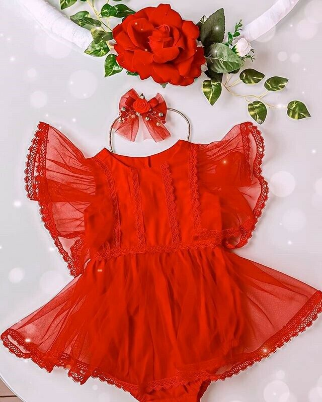 Pudcoco Newborn Baby Girls Bodysuit Summer 2020 Infant Kids Baby Girl Clothes Lace Dress Jumpsuit Soild Outfits