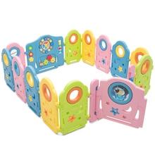 14 Panel Baby Playpen Kids Activity Center w/ Gate Indoor & Garden Baby Fence