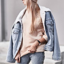 Jackets Denim Coats Jeans Outwear Added Thick Winter No Casual Chaquetas Lambs Batwing