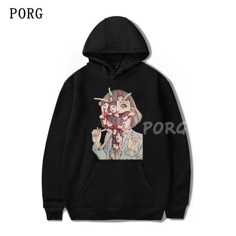 Man Manga Junji Ito Hoodie Men Shintaro Kago Girl Anime Hoodie Design Long-sleeved Aesthetic Japanese Anime Felpe Boyfriend Gift