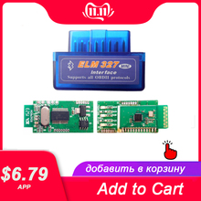 V1.5スーパーミニELM327 bluetooth elm 327バージョン1.5 PIC18F25K80チップOBD2/obdii androidトルクカーコードスキャナスキャナ