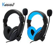 3.5mm Wired מחשב משחקי סטריאו אוזניות משחק אוזניות אוזניות עם מיקרופון עבור מחשב סקייפ MSN PS4 לשחק תחנת 4