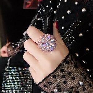 14K Rose Gold Colorful Diamond