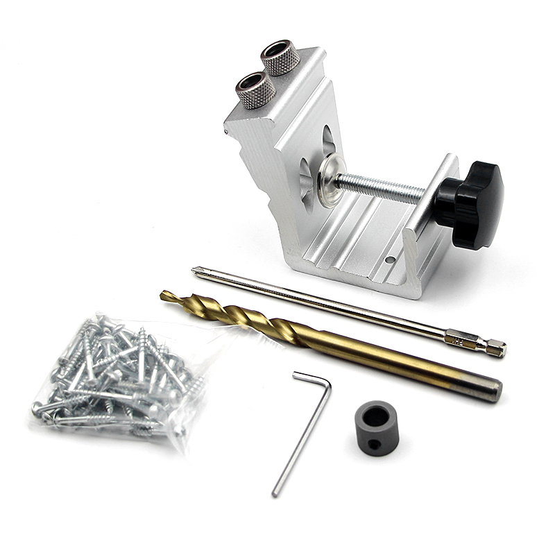 Pocket Hole Jig Kit Mini Style Pocket Hole Jig Kit For Wood Working Step Drill Bit Set Woodworking Tools Pocket Hole Puncher jig