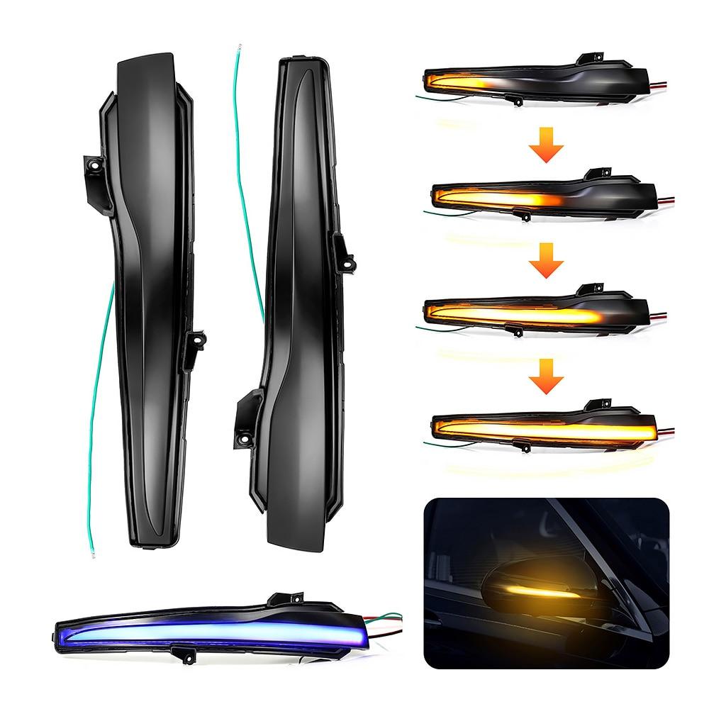2 חתיכות עבור מרצדס בנץ C Class W205 E W213 S W222 W217 דינמי Turn Signal נצנץ רציף צד מראה מחוון אור
