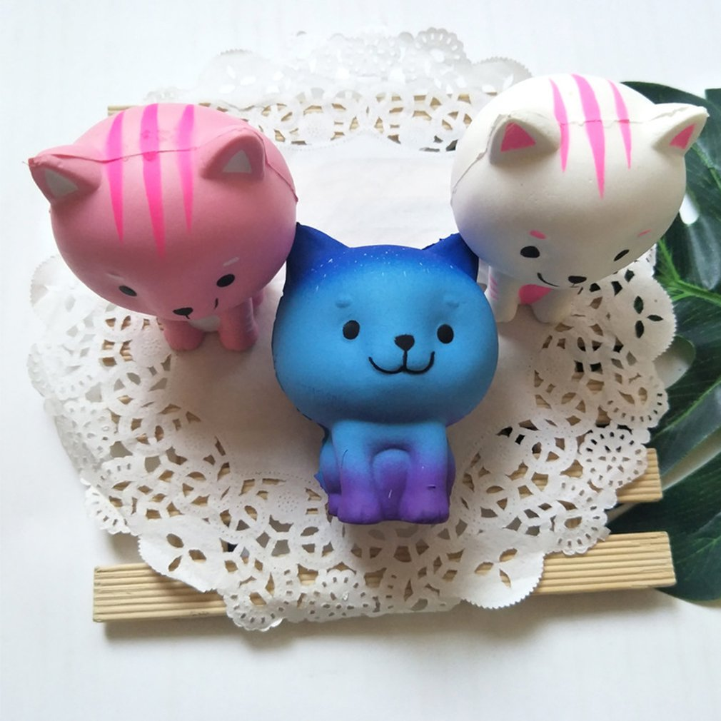 Simulation Animal Small Milk Cat Slow Rebound Decompression Toy Foam Decompression Toy Decoration Soft Toy Sample Model