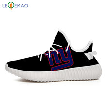 LEQEMAO Yeezys Boost 350 V2 Custom Sneakers New York Fans Men Giants Sport Air Women Walking Shoes(China)