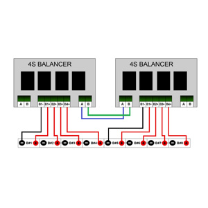 Image 5 - Qnbbm 4s 12vリチウム電池イコライザーバランサbmsリチウムイオンLiFePO4 lto lincm lmo 18650 diyパック保護