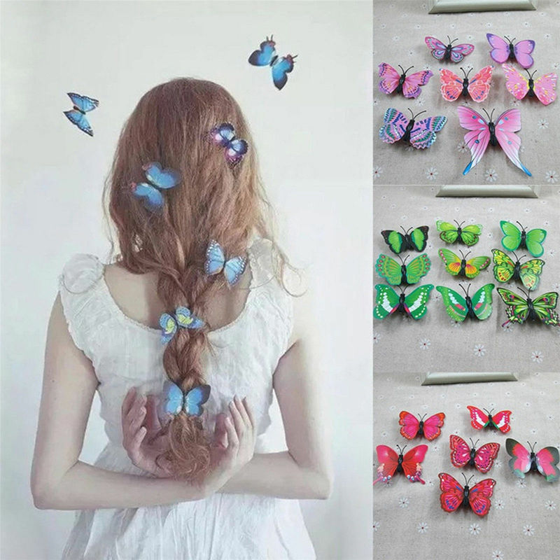 5pcs Women Butterfly Hair Clips Bridal Hair Accessory Wedding Photography Costume Hair Accessories Hair Clips