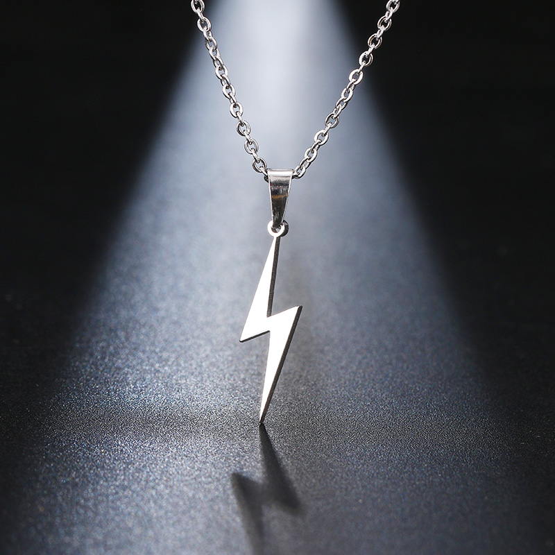 Lightning Symbol Necklace Pendant