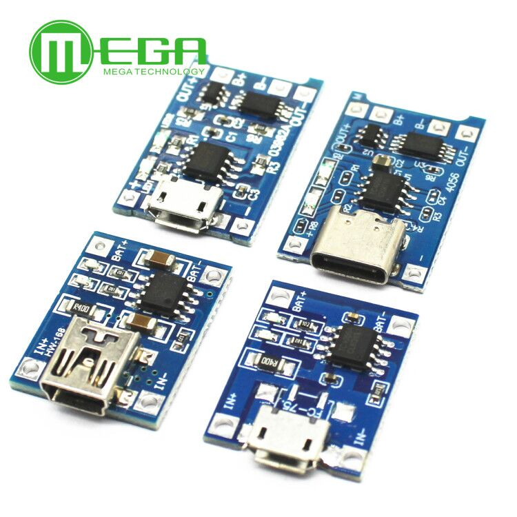 5pcs/Lot Charger-Module Lithium-Battery-Charging-Board Protection Micro-Usb Type-C Tp4056 18650