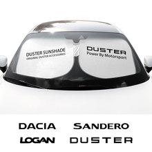 עבור Dacia הדאסטר 1.0 Tce Turbo1.4 1.6 Mpi Dci Mcv לוגן Sandero R4 רכב שמשה קדמית שמשיות שמשייה כיסוי אוטומטי אנטי UV רפלקטור