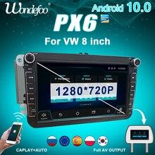 PX6 CAPLAY 2 DIN Android 10 car radio For Seat Altea Leon Toledo VW Volkswagen Passat b6 B7 POLO golf 5 6 TIGUAN 2din car audio