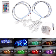 LED Angel Eyes Halo Ringe IR Fernbedienung Für BMW E36 E38 E39 E46 Multi Farbe 5050 RGB Flash SMD Auto Lichter Auto Zubehör