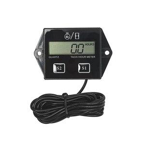 Image 1 - Digital del motor tacómetro medidor de horas tacómetro medidor para 2 o 4 tiempos motor de Gas inductivo de motores de la motocicleta barco
