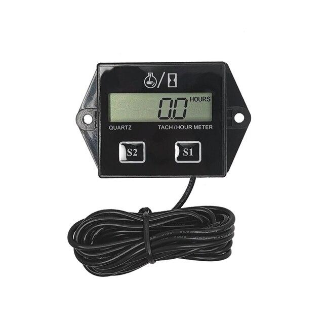 Digital del motor tacómetro medidor de horas tacómetro medidor para 2 o 4 tiempos motor de Gas inductivo de motores de la motocicleta barco