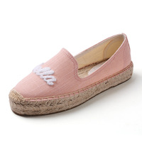 Verão novo estilo baixo superior cor sólida sapatos de pescador alpercatas respirável sapatos de lona plana linho preguiçoso retro sapatos crianças|Sapateiras e organizadores de sapato|   -