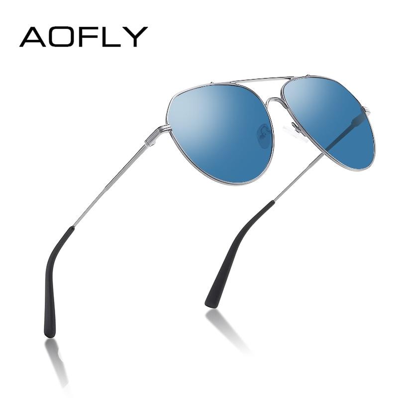 AOFLY BRAND DESIGN Men's Sunglasses Polarized Metal Frame Vintage Pilot Fishing Sun Glasses Women Male Oculos De Sol Masculino