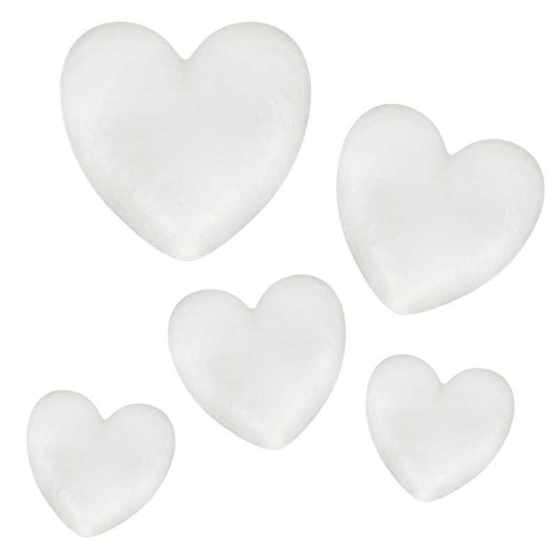 2020 جديد على شكل قلب رغوة البوليسترين الأبيض لديي زهرة صناعية حفل زفاف ديكور على شكل قلب رغوة البوليسترين دروبشيب
