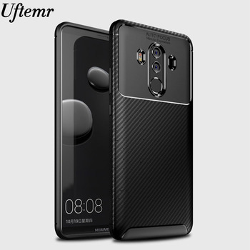 Phone Case for Huawei Mate 10 Pro carbon fiber Matte Anti-knock Soft Tpu silicone Bumper Back Cover for Mate 10 Lite Shockproof cover case for huawei mate 10 pro soft carbon fiber luxury tpu