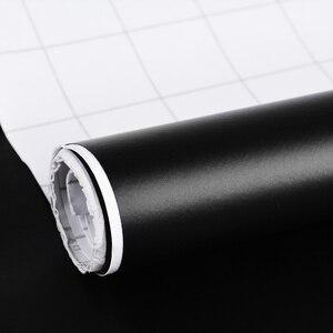 Image 5 - DIY estilo 1 pieza 152CM X 30CM mate negro vinilo coche envoltura coche motocicleta Scooter película adhesiva hoja sin burbujas pegatinas