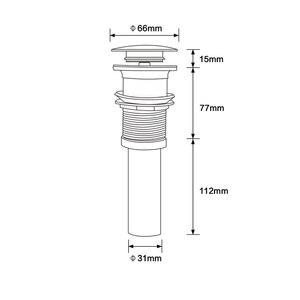 Image 4 - Torneira lavatória de estilo redondo, de alta qualidade, montagem de torneira, pop up, de aço inoxidável, pia do banheiro, rolha, sem sobrefluxo