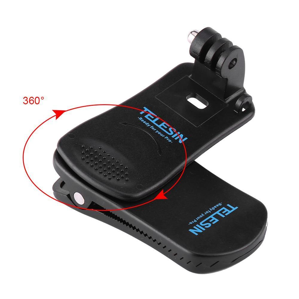 Вращающийся на 360 градусов ремень для шапки, рюкзак с зажимом, крепление для Gopro Hero 4/4/3 +/Hero 3/Hero 2, аксессуары для экшн-камеры
