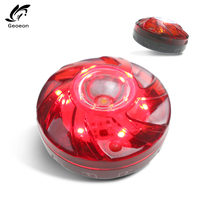 Geoeon Multi-function Emergency Safety Flare Red Road Flare Magnet Flash Warning Night Lights Roadside Beacon Car Led Light D520