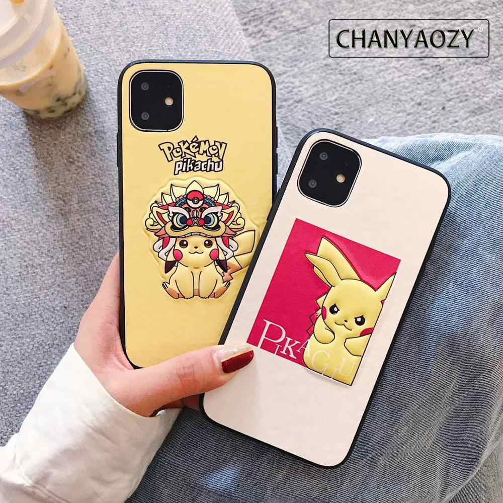 Caw legal dos desenhos animados 3d boneca caso de telefone para iphone 6 7 8 s plus xs xs max 11pro max tpu pc anti-queda