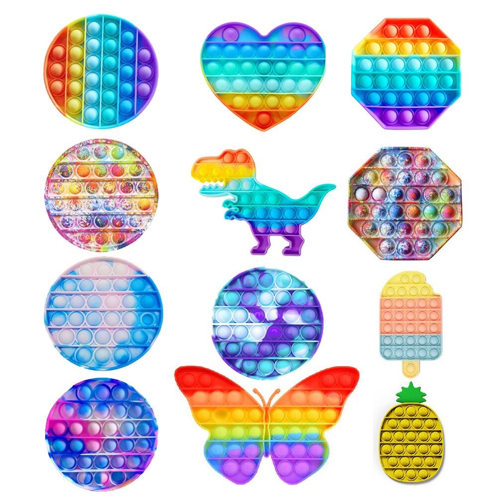 Пуш-ап поп-пузырь сенсорная игрушка для аутистов потребности мягкие игрушки для снятия стресса игра одеяло «хвост русалки» для взрослых де...