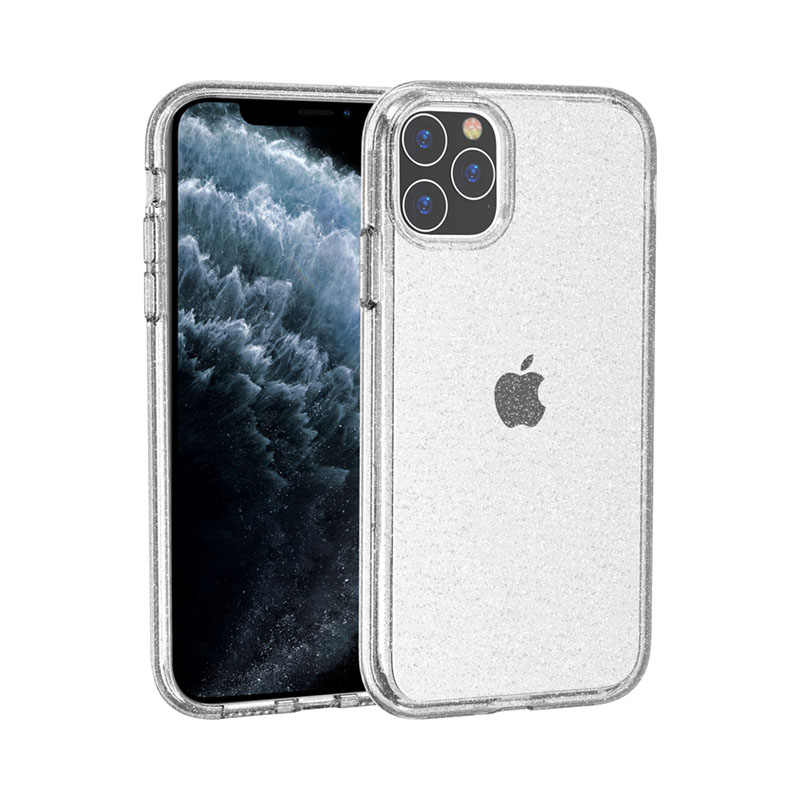 Mignon de luxe Paillettes Transparent TPU PC pour iPhone 11/11 Pro/11 Pro Max xr xs 8plus 7plus