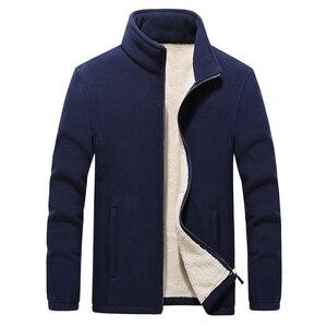Image 5 - Vestes en molleton polaire pour hommes, nouveau col montant dhiver, manteau chaud épais, grande taille 6XL 7XL 8XL 9XL, collection 2019