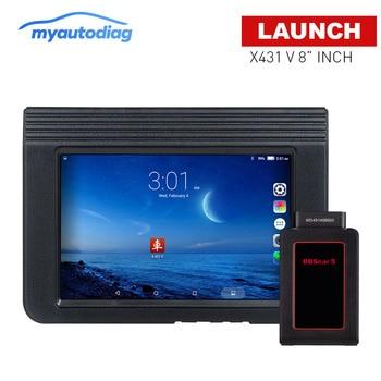 Obd2 escáner de coche LAUNCH X431 V 8 versión Global Sistema completo herramienta de diagnóstico automático X 431 V Bluetooth/Wifi
