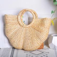 Realer woven straw bags women handbag with top-handle summer