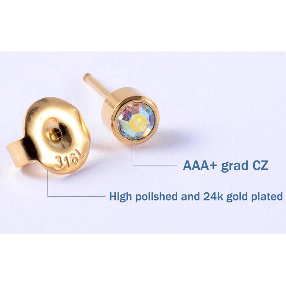 1PC Disposable Sterile Ear Piercing Unit Cartilage Tragus Helix Piercing Gun NO PAIN Piercer Tool Machine Kit Stud Ball Earrings 3