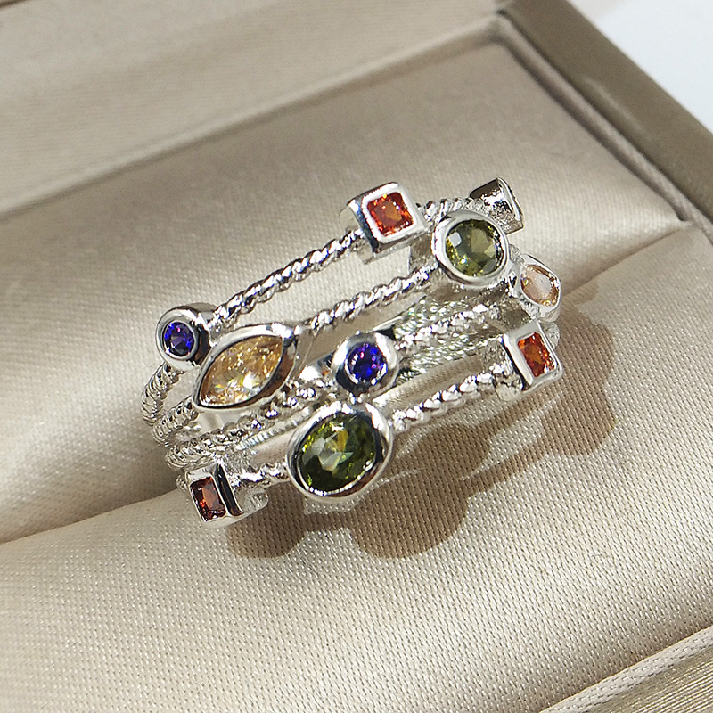 Genuine 925 Sterling Silver Rings For Women Hollow Engagement Ring Bijoux Bague Gift Sterling Silver Wedding Jewelry