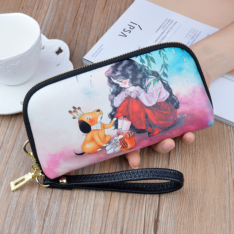 2020 new women wallet long leather zipper soft leather shell-type large-capacity mobile phone wallet