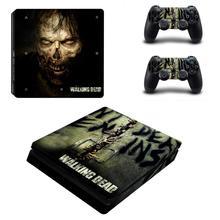 Pegatinas de vinilo de The Walking Dead para PS4, pegatinas finas de vinilo para PlayStation 4, PS4 Slim Console y Controller Skins Decal