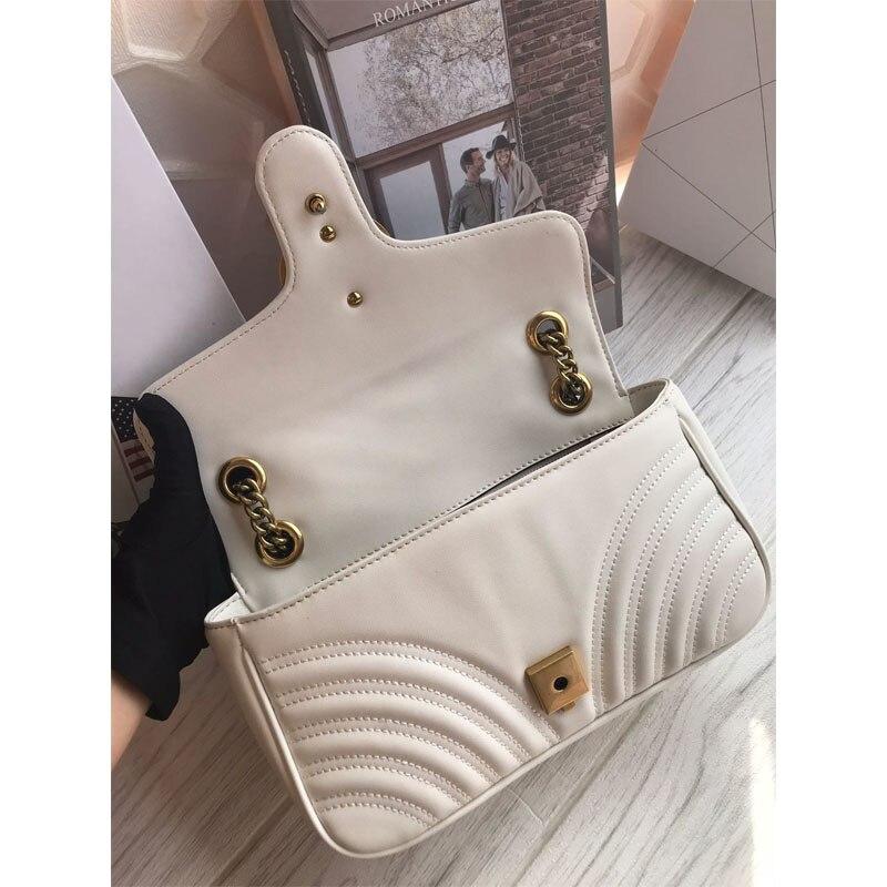 Luxury Women's Handbags High Quality Chain Shoulder Messenger Bag Leather Women's Crossbody Heart Stitched Bag