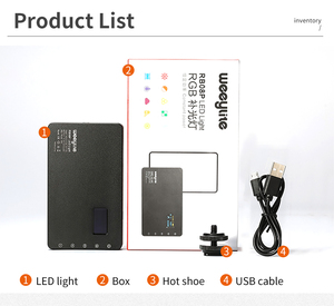 Image 2 - VILTROX Weeylife RB08P RGB 2500K 8500K Mini wideo LED światło przenośne światła wypełniającego wbudowana bateria do aparat fotograficzny Studio