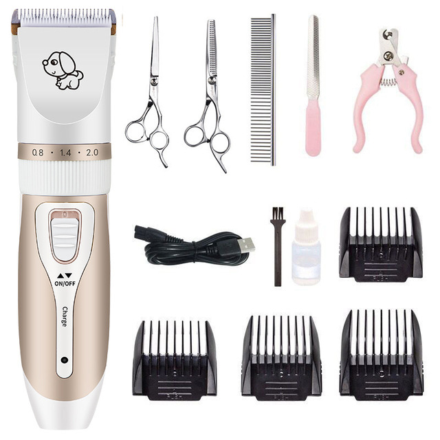 Dog Clipper Dog Hair Clippers Grooming  (Pet/Cat/Dog/Rabbit) haircut Trimmer Shaver Set Pets cordless Rechargeable Professional 1