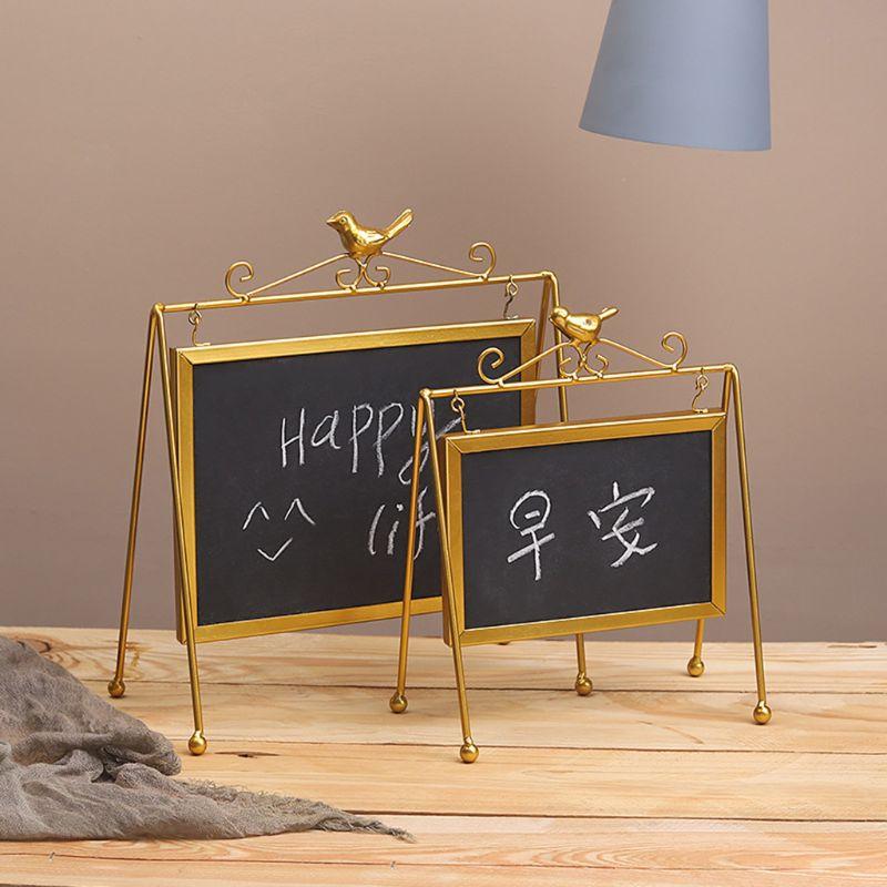 Desktop Memo Message Blackboard Easel Chalkboard Kids Writing Boards For Wedding