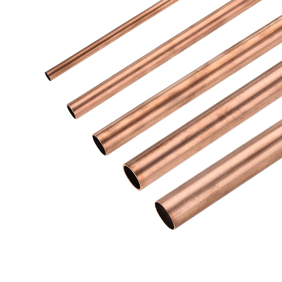 Tubo redondo 8mm-30mm od 100mm/200mm/300mm do cobre de uxcell 1pc tubulação reta oca do comprimento para artesanato de diy industrial